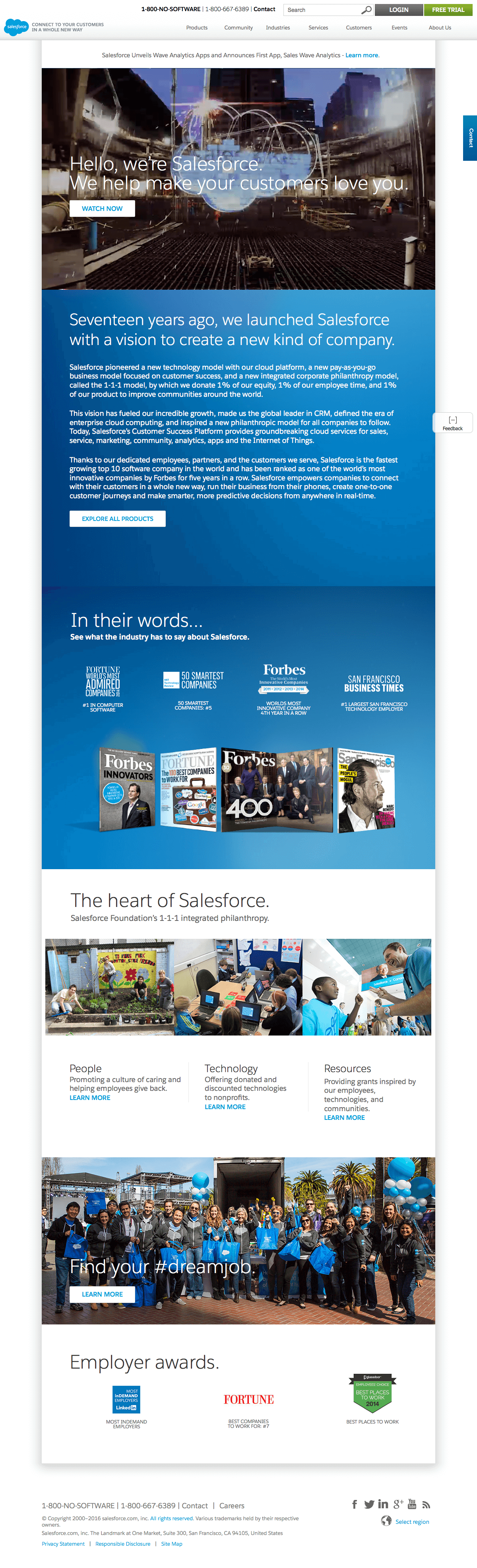 About us page inspiration - Salesforce