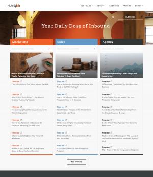 Blog page inspiration - HubSpot