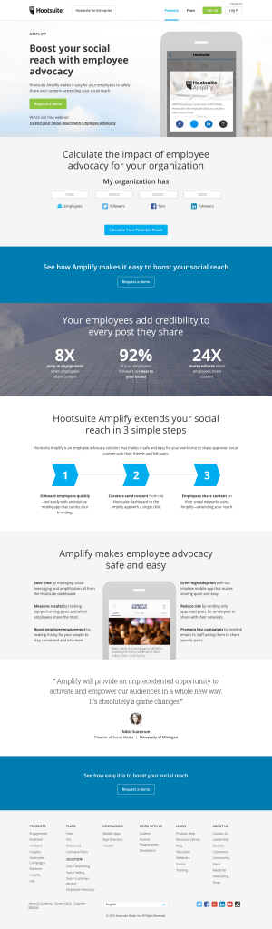 Features saas page inspiration - Hootsuite