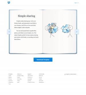 Features tour page inspiration - Dropbox