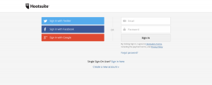 Login page inspiration - Hootsuite