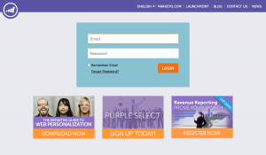 Login saas page inspiration - Marketo