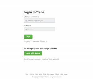 Login page inspiration - Trello