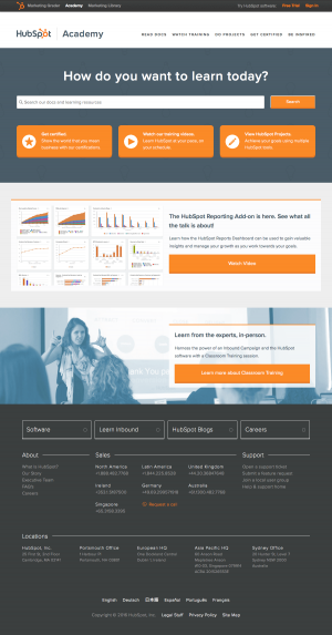 Support saas page inspiration - HubSpot