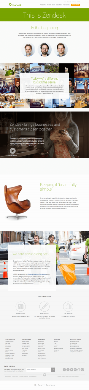 About Us page inspiration saas
