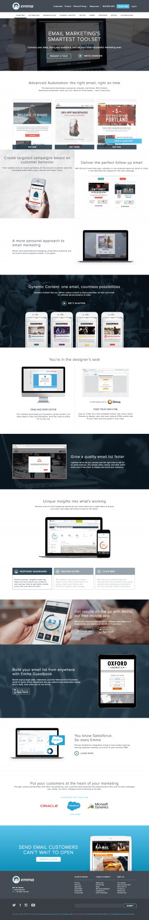 Features page inspiration - saas Emma