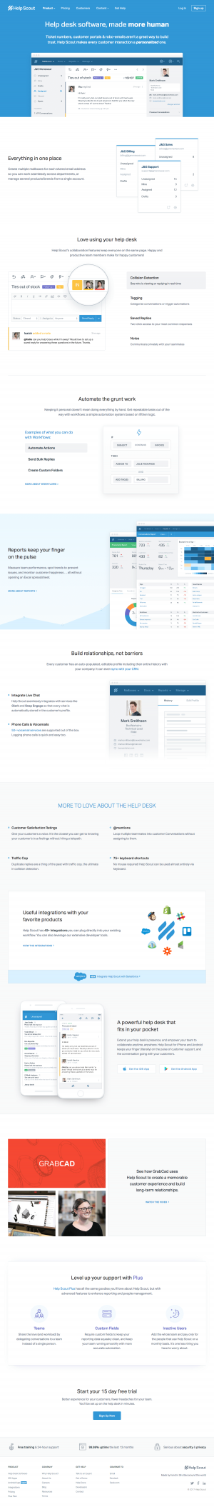 Features page inspiration - saas Help Scout