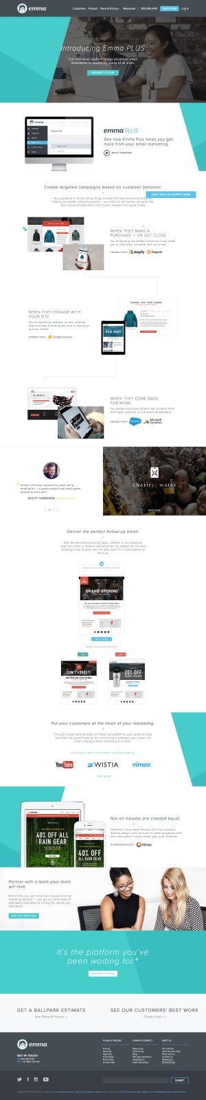 Homepage inspiration -saas Emma