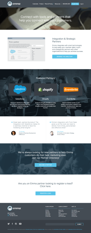 Integrations page inspiration - saas Emma