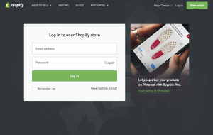 Login page inspiration - saas Shopify